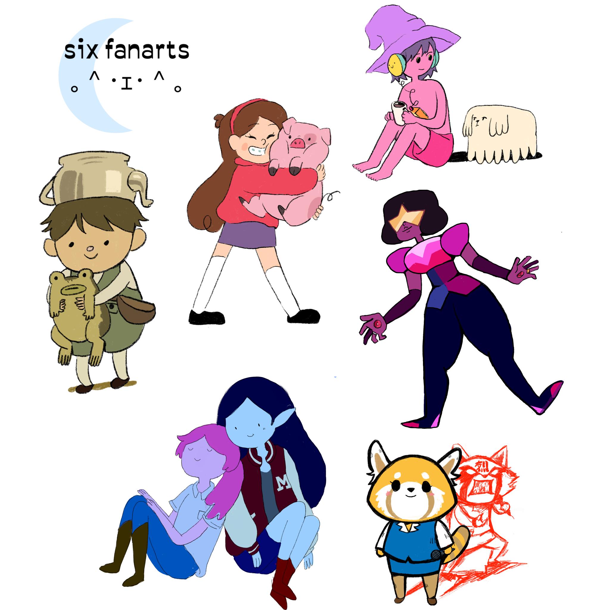 Gu's illustration for the Six Fanarts challenge